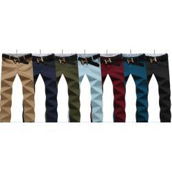 พับขาแต่งลาย++กางเกงสแล็คแฟชั่น สลิม แต่งปลาย No.28-34 สีกากี แดง เขียว ดำ ฟ้าเขียว น้ำเงิน ฟ้าอ่อน