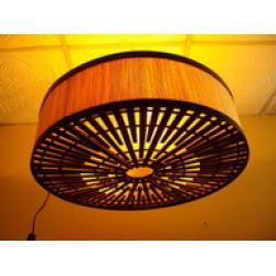 โคมไฟไม้ไผ่แขวนเพดาน Bamboo Ceiling Lamp (BCL005)