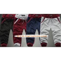 หลากสี!!กางเกงขาจั๊ม ผ้าฝ้ายขาสั้น jogger ทูโทน เอวรูด ออกกำลังกาย ฟิตเนส แฟชั่น หลากสี แดง ดำ เทา น้ำเงิน size 28-36