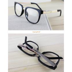 กรอบแว่นตาแฟชั่น เรโทร แบบ for people กรอบPLขาทอง แว่นตาฮิพฮอพ (ดำทอง ดำตะกั่วเงิน ชาทอง