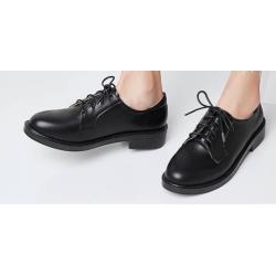 หลากสี+เล็กพิเศษ!!พรีออเดอร์ รองเท้าหนัง ทำงาน สไตล์อังกฤษ ไซส์เล็ก สีดำ เบอร์ 34-40 แบบเรียบ