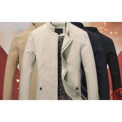 6สี !! เสื้อสูทคอจีน เสื้อคลุมคอจีน แต่งกระดุมข้าง แบบเรียบ Size No 36 38 40 42 44 46 ดำ ครีม น้ำเงิน