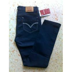 กางเกงยีนส์ Levi's แท้ USA ทรงฟิต เข้ารูป รุ่นยาวพอดี เอว No.26-27 น้ำเงิน