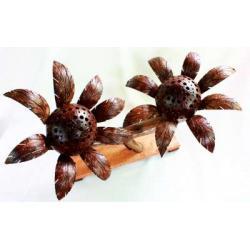 โคมไฟกะลามะพร้าว รูปดอกทานตะวัน Sunflower 2