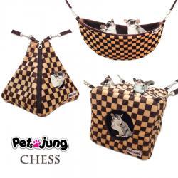 PJ-BES001-BRCH PetsJunG - Chess Bedding Set เปลญวน/ปิรามิด2in1/ลูกเต๋า สำเนา สำเนา สำเนา