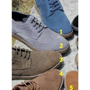 ใหญ่พิเศษหลากสี!!รองเท้าหุ้มส้นพิเศษ หนังแท้ ออกฟอร์ด C30 ดำ เทา ฟ้า น้ำตาล เหลือง กากี เบอร์ 39-47