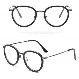 3สี! กรอบแว่นตาแฟชั่น เรโทร วินเทจ กลมขอบ ขาดำ (กรอบ ดำด้าน ดำ กระทอง )