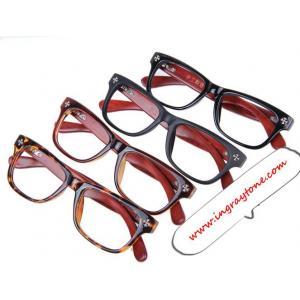 กรอบแว่นสายตาใหญ่ ขาไม้ ทูโทน No.8 (ดำเงา ชา กระ )
