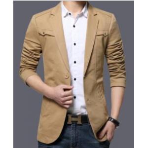 เสื้อสูทลำลองแฟชั่นผู้ชายแต่งอกซ้ายขวา Size No.41