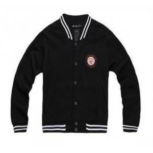 เสื้อแจ็คเก็ต เบสบอล ทรงสลิมฟิต สีดำโลโก้น้ำตาล No.36
