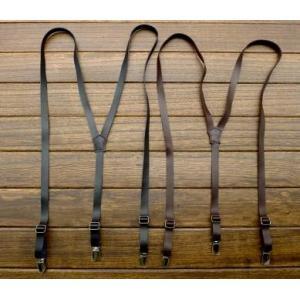 สายรัดกางเกงเอี๊ยม หนังแท้เกรดA หัวเงิน กว้าง 1.5cm แบบ Y สีน้ำตาล ดำ