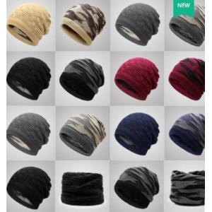 ราคาพิเศษ!!หมวกผ้า หมวกคลุมกันหนาว หมวกไหมพรม2ด้าน ลายพราง2ด้าน สี ดำ เทา น้ำเงิน แดง ครีม