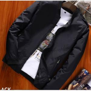 เสื้อเบสบอลผ้าร่ม ซิบ สีดำ น้ำเงิน No.40 42 44 46