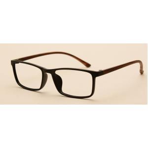 แว่นสายตาแฟชั่น TR ผู้หญิง ผู้ชาย แนวนอนเหลี่ยมเล็ก สี ขาไม้ ดำ