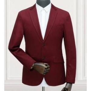 เสื้อสูทลำลองแฟชั่นผู้ชาย ปกเปิด แดง TURT size 39 41