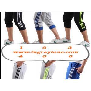 9 สี!!กางเกงผ้าฝ้ายขาสั้นขาจั๊ม ทูโทน แต่งเทปข้าง เอวจั๊ม รูด size 28-35