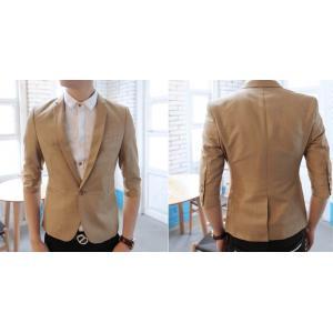เสื้อสูทแขนสั้น กระเป๋าเปิด สีน้ำตาล Size No.36 38 สีน้ำตาล