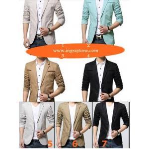 จองราคาพิเศษ!เสื้อสูทลำลองแฟชั่นผู้ชายแต่งอก กระเป๋าซ้ายขวา Size No.35 37 39 41 43 45