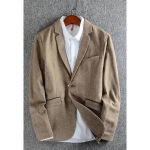 SALE!!เสื้อสูท แฟชั่นชาย สไตล์อังกฤษ ปกเปิด ลินินคอตตอน สีน้ำตาล เทา Size No.36 38 40