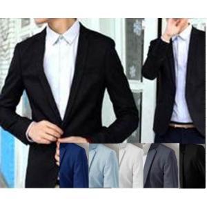 ฟ้าเข้ม ขาว !! เสื้อสูทแฟชั่นผู้ชาย ทรงสลิมฟิต ปกเปิด สุดคุ้ม Size No.36 40 ฟ้าเข้ม เทา ขาว ชมพู