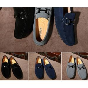 หลากสี!!พรีออเดอร์ราคาพิเศษ รองเท้า loafer หนังกลับ H logo หนังกลับ C19 สีน้ำเงิน ดำ เทา No.38-45