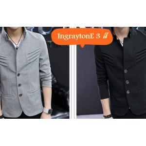 เสื้อสูทผู้ชายคอจีน แฟชั่นสลิมฟิต แต่งริ้วคอตั้ง คอตตอนนุ่ม Size No 35 37-39-41 สีดำ น้ำเงิน เทา