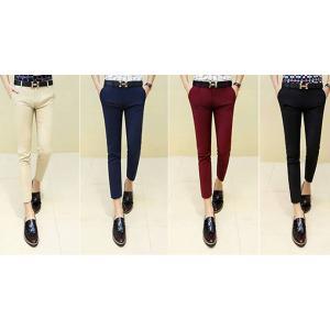 4สี ซื้อ 2 โปรลด150- กางเกง5ส่วน เดฟ กางเกงทำงาน เข้ารูป แต่งกระดุมใส เอว No.28-34 น้ำเงิน ดำ แดง กากี