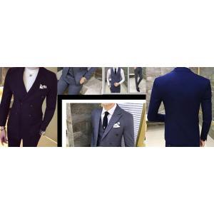 ฟรีถุงสูท!เสื้อสูท กระดุมคู่ 6เม็ด สไตล์อังกฤษ ปกปิดมาตรฐานสีล้วน สี ดำ เทา น้ำเงิน Size No.35 37 39 40 41