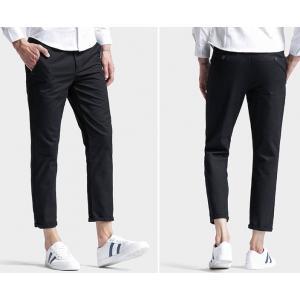 ใหญ่SALEราคาพิศษหลากสี 5ส่วน!! กางเกงสแล็คแฟชั่น 5ส่วน ทรงสลิม แบบเรียบ xg No.30-40 เขียวอ่อน ดำ