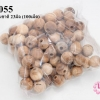 ลูกปัดไม้ กลม สีไม้ธรรมชาติ 23มิล (100เม็ด)