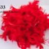 ขนนกเฟอร์ สีแดง (1เส้น/2หลา)