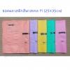 ซองพลาสติกสีพาสเทล M (25X35cm)