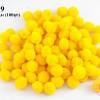 ปอมปอมไหมพรม สีเหลือง 2 ซ.ม (100ลูก)