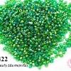 ลูกปัดจีน กลม สีเขียวเหลือบรุ้ง 2มิล #S(5กรัม)