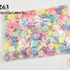 ลูกปัดพลาสติก สีพาลเทล ดอกไม้ คละสี 19 มิล(1กิโล/1,000กรัม)