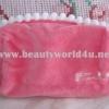 กระเป๋าผ้าขนหนูสีชมพู จาก Shu uemura