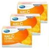 Set 3 กล่อง NAT-C ESTER วิตามินซีผง 30ซอง ละลายน้ำ [MEGA] (VIT C 100MG )