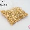 ตะขอสร้อยก้ามปู สีทอง 6x12มิล (1,000ชิ้น)