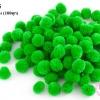 ปอมปอมไหมพรม สีเขียว 2 ซ.ม (100ลูก)