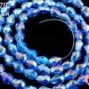 คริสตัลจีน ทรงหยดน้ำ สีน้ำเงินใสอ่อน 4มิล(1เส้น)