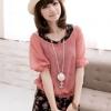 (หมดจ้า) ชุดเดรสสไตล์สาวหวาน ลายดอกไม้สีแดง เสื้อตัวนอกเป็นผ้าซีฟองแขนตุ๊กตา น่ารักสุดๆเลยจ้า