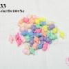 ลูกปัดพลาสติก สีพาลเทล ท๊อฟฟี่ คละสี 9X16 มิล(1ขีด/100กรัม)