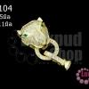 ตะขอสร้อยหน้าเสือ สีทอง เพชรCZเกรด จิวเวอรรี่ 13X15มิล ห่วง 11มิล (1ชุด)
