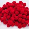 ปอมปอมไหมพรม สีแดง 3ซม (100ชิ้น)