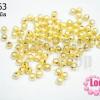 ลูกปัดโลหะ สีทอง ขัดทราย กลม 5มิล (50กรัม)