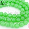 คริสตัลจีน ทรงกลมเจียร สีเขียวขุ่น 8มิล(1เส้น)