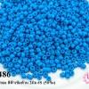 ลูกปัดจีน กลม สีฟ้าเข้มด้าน 2มิล #S (5กรัม)