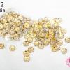 ตัวแต่งคั่นเพชร สีขาว ขอบทอง 8มิล(1ห่อ/100ชิ้น)