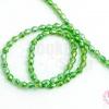คริสตัลจีน ทรงหยดน้ำ สีเขียว 4 มิล (1เส้น)