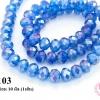 คริสตัลจีน ทรงซาลาเปา สีน้ำเงินอ่อน 10 มิล (1เส้น)